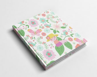 Journal or Spiral Notebook | Caterpillar's Garden Hard Cover Journal or Wire Bound Notebook | School Notebook | Spiral Notebook for Kids