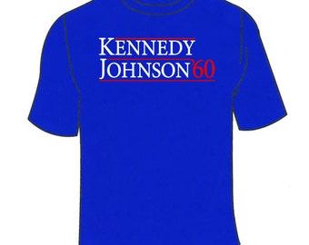 Kennedy Johnson 1960 T-Shirt. Funny Retro Political TShirt