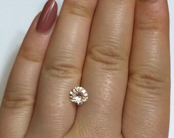 Loose Peach Pink Morganite, Loose Natural Morganite Stone, Eye Clean Round shape Morganite Stone