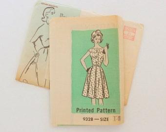 """Anne Adams 9328 - sz 14 bust 36"""" - 1950s/60s Pattern"""