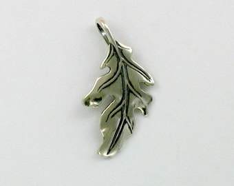 Sterling Silver 3-D Oak Leaf Pendant