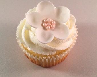 Fancy Flower Cupcake Toppers (12)  - Edible Fondant