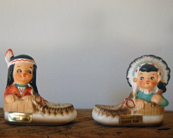Baby Native American Salt and Pepper Shakers