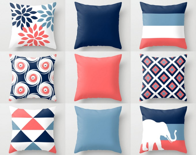 throw pillow covers navy blue green white stone couch cushio