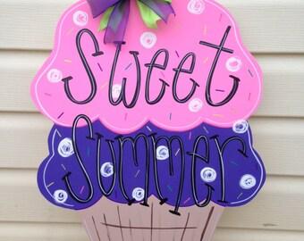 summer door hanger, ice cream door hanger, sweet summer door hanger, spring door hanger, ice cream cone door hanger