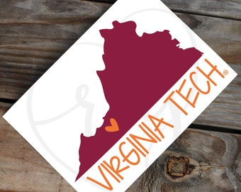 Officially Licensed: Virginia Tech Decal