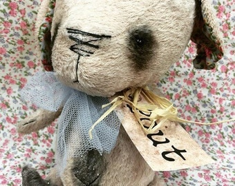 Made to order item~*~ Miss Peaches Pout The OOAK unique artist teddy bear puppy dog