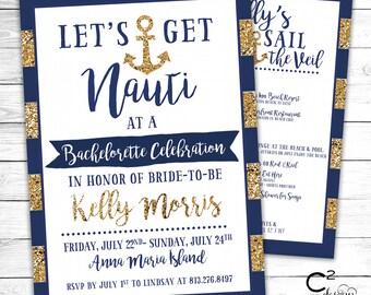 Get Nauti Bachelorette Invitation With Itinerary
