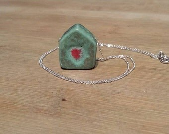 925 silver necklace with ceramic element