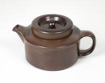 Vintage Arabia Finland Ruska Teapot or Coffee Pot by Ulla Procopé Scandinavian Design Finnish Pottery Danish Modern Retro Kitchen