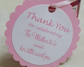 Personalized Favor Tags 21/2'', Baby Girl or Boy Shower tags, Thank You tags, Favor tags, Gift tags, Rustic Tag