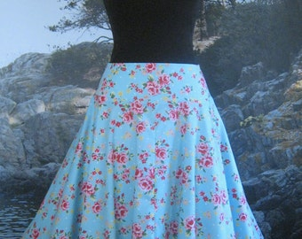 Circular Skirt on a Yoke in Garden Party Fabric, from Bird of Paradise Clothing.