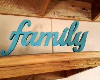 Family sign, freestanding, home decor