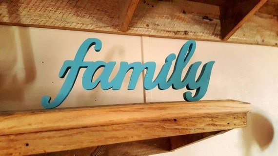 Family Sign Freestanding Home Decor