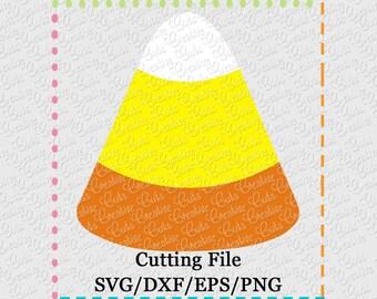 SVG EPS DXF Cutting File Candy Corn svg, candy svg, halloween svg, trick or treat svg, creativeapplique, halloween candy svg, candycorn svg