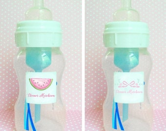 Water resistant bottle & sippy cup label - quantity 24