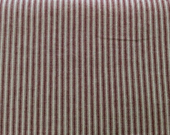 Woven fabric from Japan - striped - red / natural