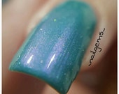 Hermosa~2 Eivissa Indie Nail Polish Green Holo Crelly 2 Sizes 6/10ML