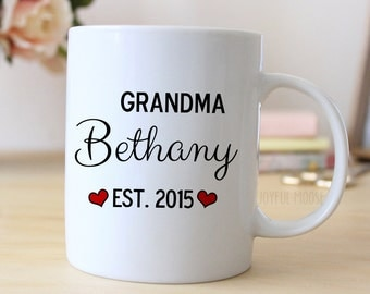 Grandma Personalized Mug - Personalized Grandma Coffee Mug - Grandma to be - Pregnancy Announcement
