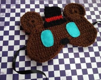 Crochet Freddy Fazbear FNAF sleep mask