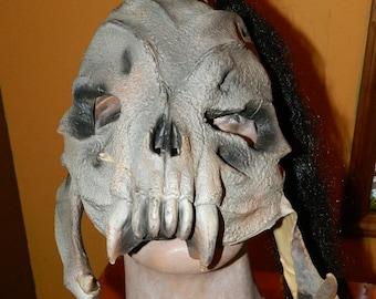 Vintage Mask - Monster w/ Ponytail - Vinyl - New Old Stock