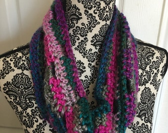 Colorful Crocheted Cowl