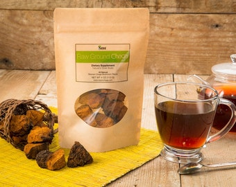 Siberian Dried Chaga Mushroom Chunks with Black Top Crust , Dietary tea supplement, Antioxidant and Immune booster, Wild Harvested