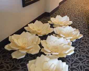 Giant Paper Flower - Set of Six