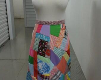 Vintage 60s Patchwork Skirt