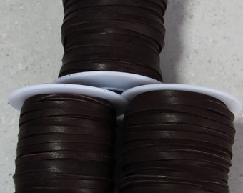 "1/8"" Chocolate Deerskin lace 50 ft."