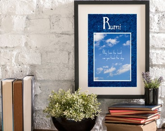 May From the Heart A Year of Rumi Inspirational Quote Artwork Print Poster