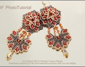 DIY Photo Tutorial Eng-ITA ,*Zenithia* earrings ,PDF Pattern 70 with delica, swarovski,superduo and seed beads,instructions,bead weaving