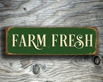 FARM FRESH SIGN, Farm Fresh Signs, Vintage style Farm Fresh Sign,  Farm Fresh, Outdoor Farmers Market Sign, Farmers Market Farm Fresh Sign