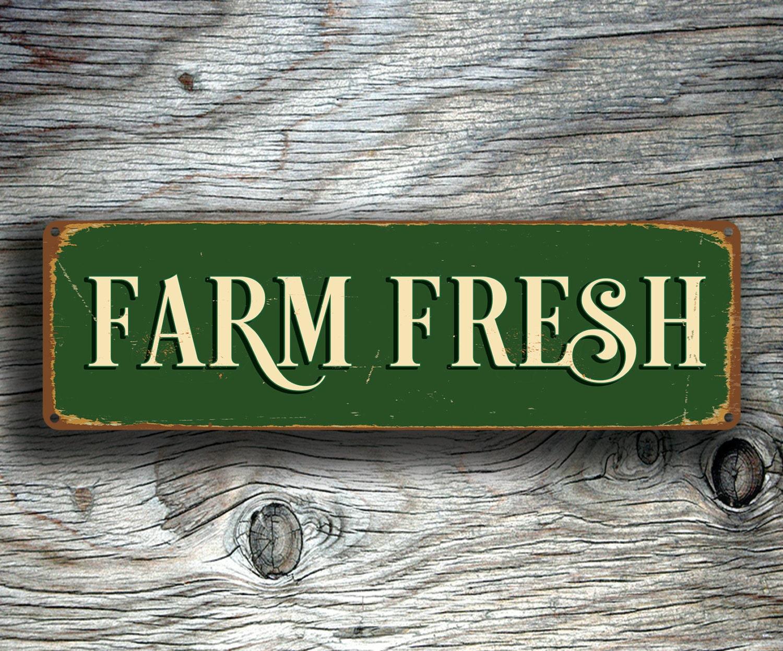 Vintage Farmers Market Sign FARM FRESH SIGN Farm F...