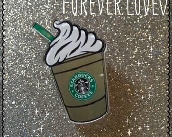Starbucks frappuccino brooch pin coffee