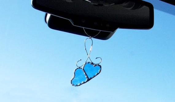 heart accessories mirror car mirror hanging jewelry by artsvitrail. Black Bedroom Furniture Sets. Home Design Ideas