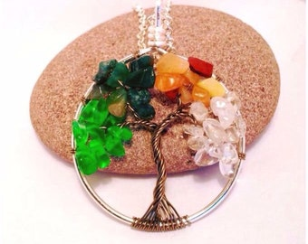 seasons tree of life necklace,spring tree, winter tree, autumn tree, summer tree, four seasons, tree of life pendant, tree of life jewellery