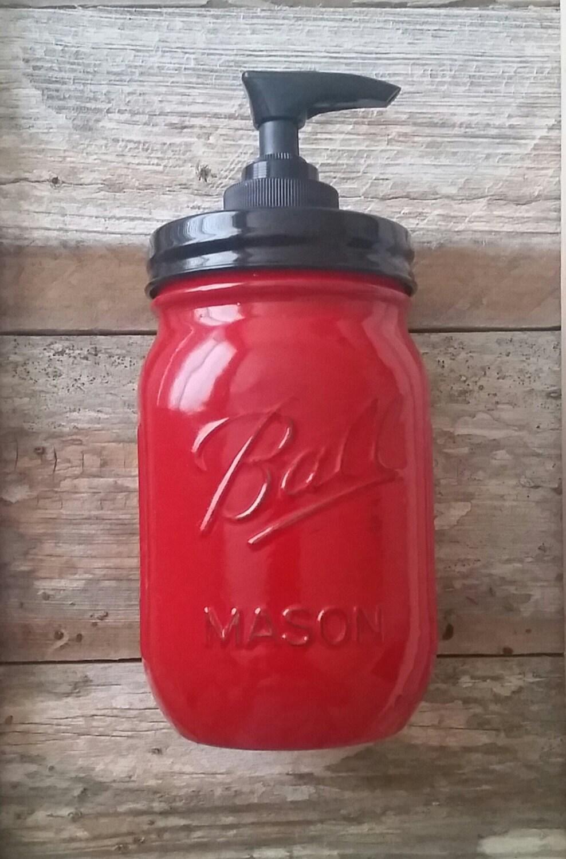 Country Living Vintage Red Soap Dispenser