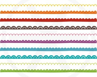 Doodle borders clipart - Colorful Hand drawn borders - Doodle images clip art, to use in wed design, scrapbooking, card making...