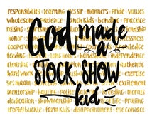 God Made a Stock Show Kid Print