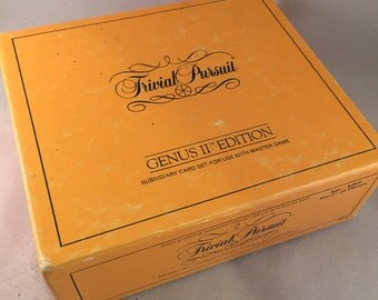 Trivial Pursuit Game Genus II Edition Subsidiary Card Set 1984
