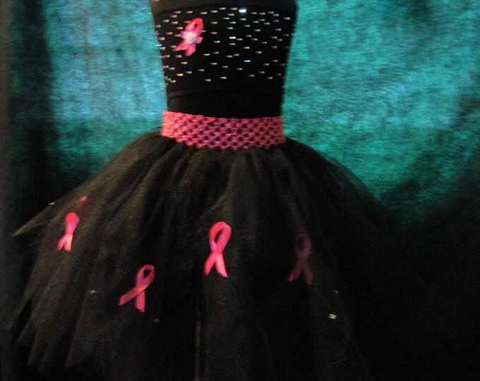 Black Petal Awareness Tutu Skirt Adult Sizes