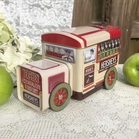 Retro Hershey's Truck Tin Canister Advertising