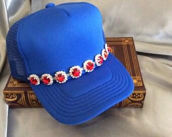 Hats, Trucker Hats, Bling Trucker Hat, Womens Hat, Bling Trucker Hat, Distressed Trucker Hats