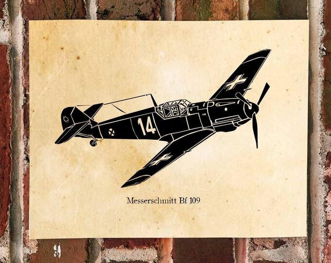 KillerBeeMoto: Limited Print Messerschmitt Bf 109 Aircraft Print 1 of 50