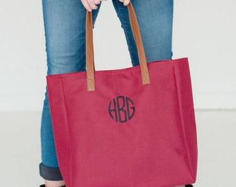 Monogrammed Tote Bag, Monogrammed Shoulder Purse, Game Day Shoulder tote