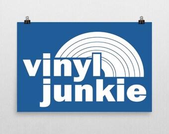 "Vinyl Junkie Poster 24x36"" LP"