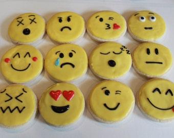 Emoji Face Vanilla Sugar Cookies