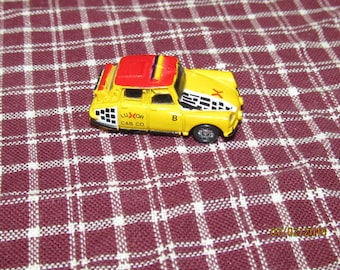 Vintage Funrise Back to the Future II Micro Cars Future Taxi Cab Yellow Luxor Cab Co
