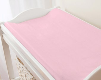 Carousel Designs Solid Bubblegum Pink Changing Pad Cover